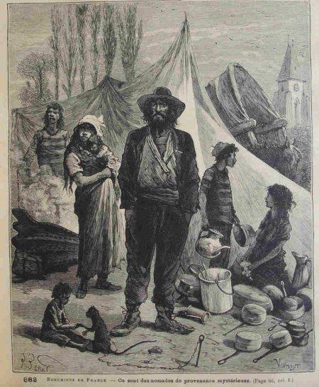 «Bohémiens» au XIXe siècle