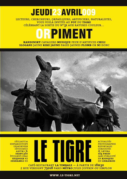 Invitation Pot du Tigre orpiment