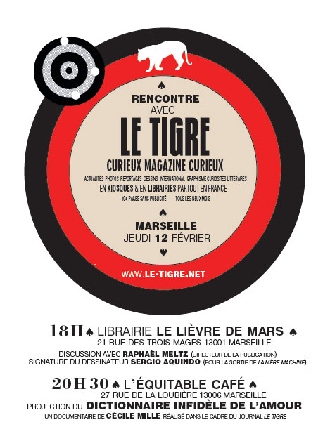 Invitation Le Tigre à Marseille